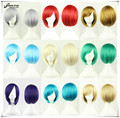 SHOWSTAR Hot Sale Blonde Red Wig Short Straight Bob Wig for Men High Quality Cosplay Costumes Wig Heat Resistant Synthetic Wig