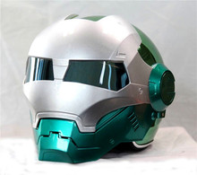 Personality motorcycle helmet Genuine male iron 610 man retro the high end off road motorcycle green