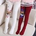 Meias de inverno Para Meninas crianças de emenda cervos grosso Lotação bebê Crianças Meia-calça Elasticidade Collants Meninas Collants Meia Do Natal