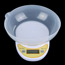 5kg/ 1g Kitchen Scale Portable Electronic Scale LCD Display Digital Scale Food Parcel Weighing Balance with Bowl(China)