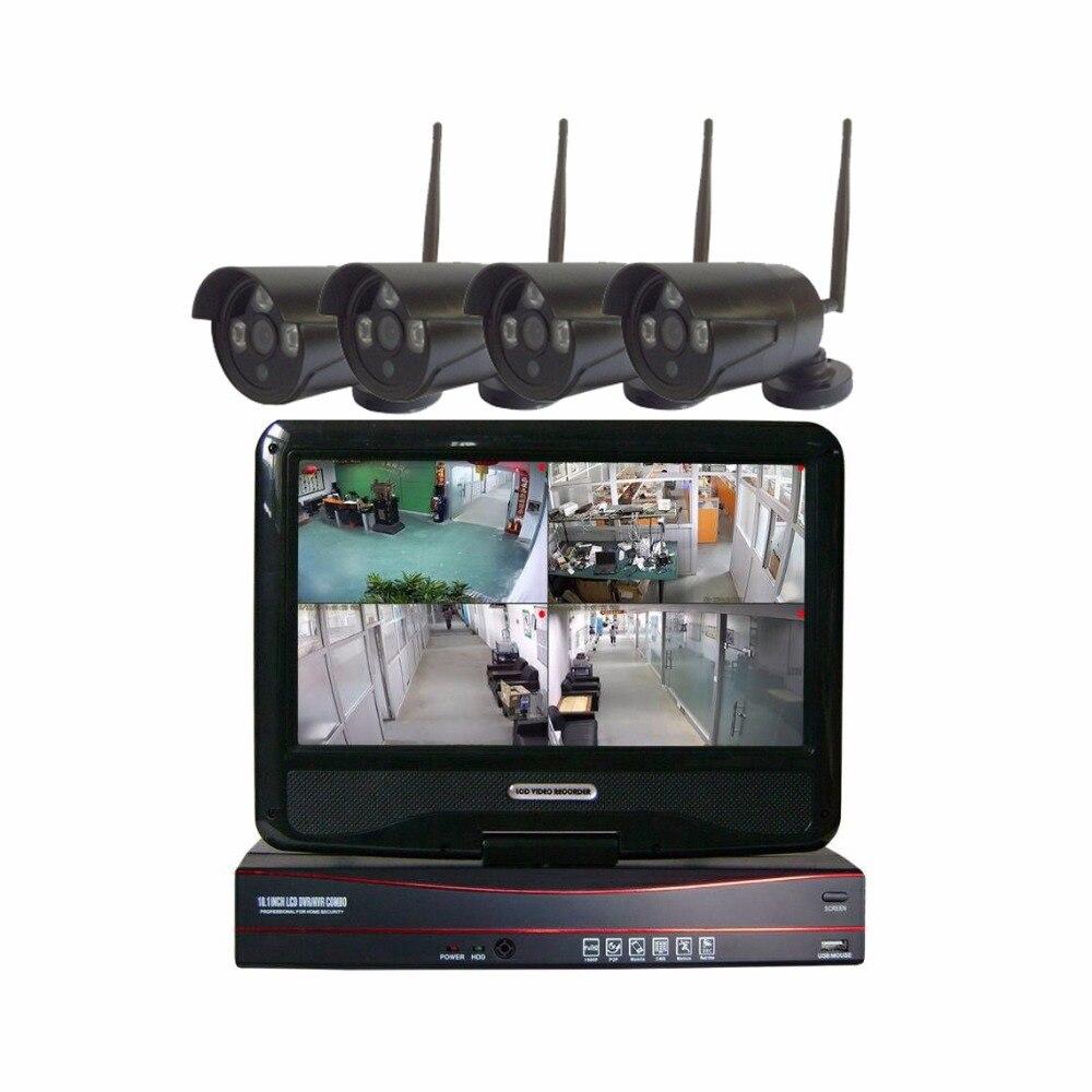 JSA 1080 P HDMI 720 P HD מצלמה חיצונית אבטחת בית מערכת 4CH טלוויזיה במעגל סגור טלוויזיה במעגל סגור ערכת NVR אלחוטי ערכת מצלמת IP