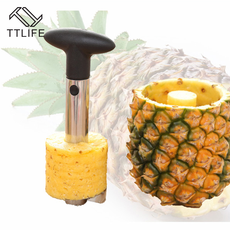 TTLIFE 2017 Nuevo Acero Inoxidable Frutas Piña Slicer Peeler Cuchillo Herramient