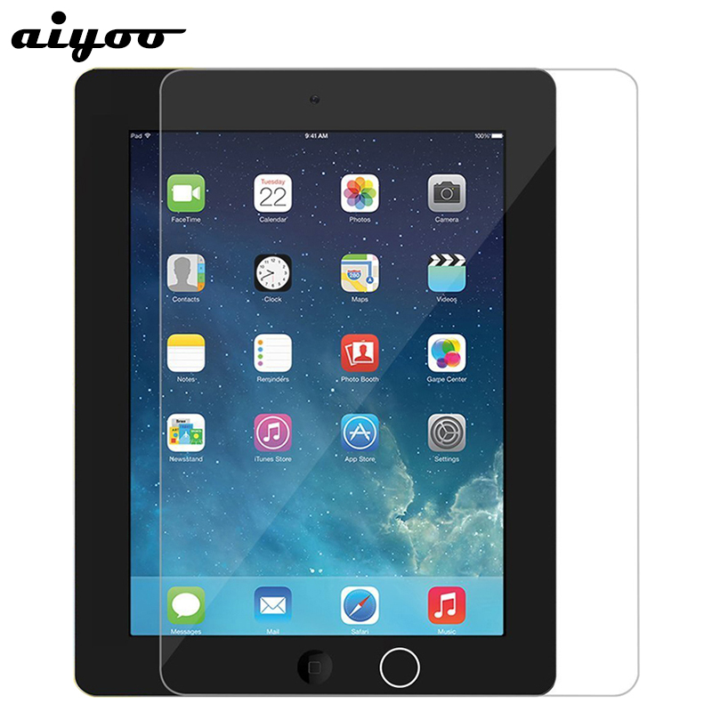 Aiyoo Tempered Glass for iPad 2 iPad2 Screen Protector for iPad 3 iPad3 9H Anti Scratch Tempered Glass Film for iPad 4 iPad4 9.7 high quality oleophobic coating 2 5d 0 26mm 9h tempered glass screen protector for iphone 6 4 7