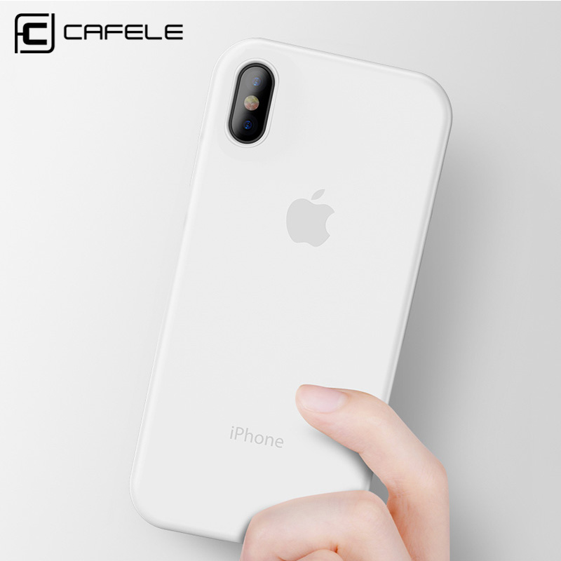 CAFELE Mobile Phone Case for iPhone X Xs Max Xr 7 8 plus Cover Ultra Thin Matte PP Fashion Flexibility Cases Shell