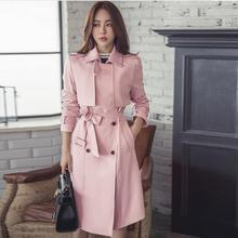 S-4XL Long trench female new style double breasted plus size trench coat Women