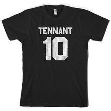 Tennant 10 - Mens T-Shirt David Doctor TV Colours FREE UK P&P Print T Shirt Short Sleeve Hot Tops Tshirt Homme
