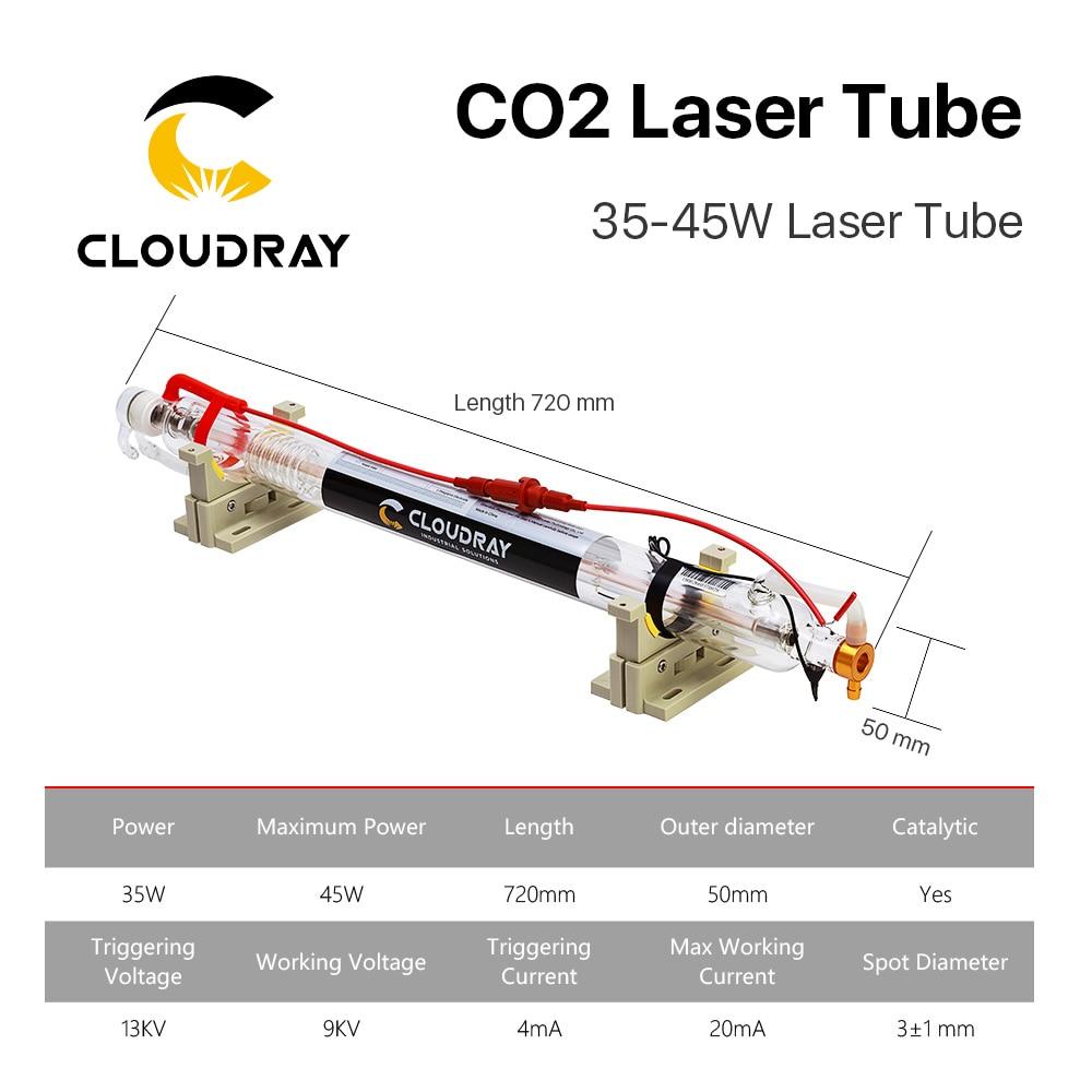 Cloudray 40W Co2 laseriga ümberehitatud metallpeaga toru 700MM - Puidutöötlemismasinate varuosad - Foto 6