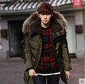 Hot!Free shipping !!The new winter 2015 men down jacket Cultivate one's morality really long down coat collars thickening