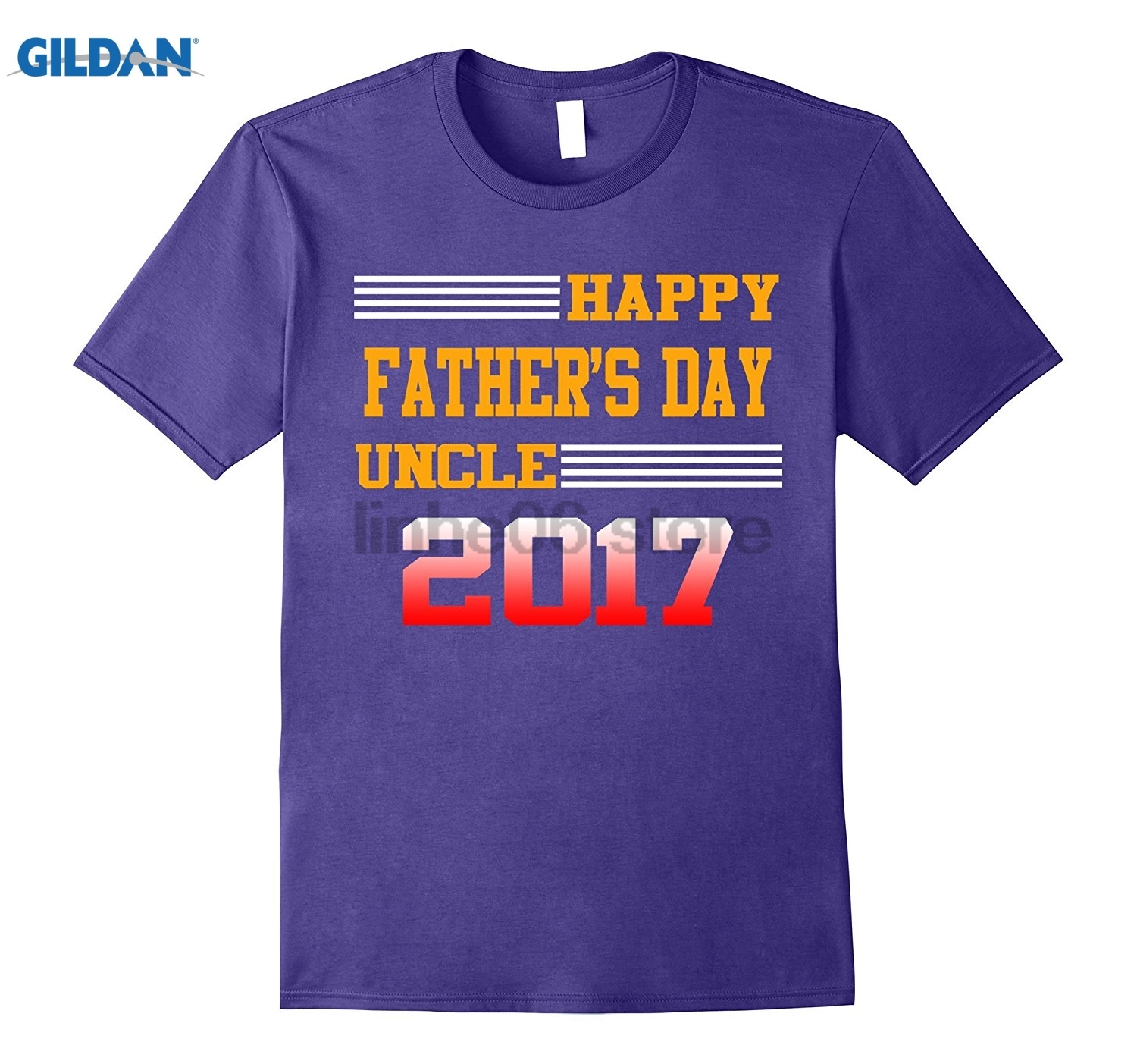 GILDAN Happy Fathers Day Uncle 2017 T-Shirt, father Day Gifts Fashion men free shipping summer dress T-shirt