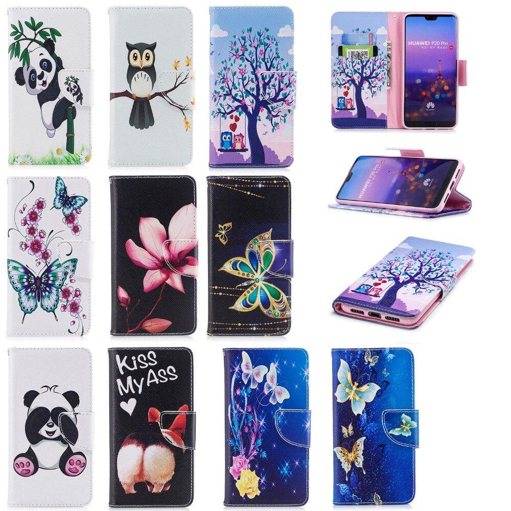 Wallet Case Voor Huawei Mate 20 Pro Lite Case Cover Flip Case Voor Fundas Huawei Nova 3e P20 Lite Pro Y5 Y9 2018 Case + Stand