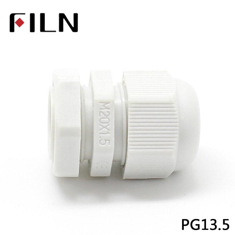 PG13.5 M20X1.5 кабельный сальник для герметизации провода размеры нейлоновый водонепроницаемый кабель сжатия сальник для герметизации провода электрические б/у
