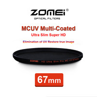 67mm ZOMEI PRO Ultra Slim HD MCUV 18 Layer Multi Coated Optical Glass MC UV Filter for Canon NIkon Hoya Sony Camera Lens 67 mm