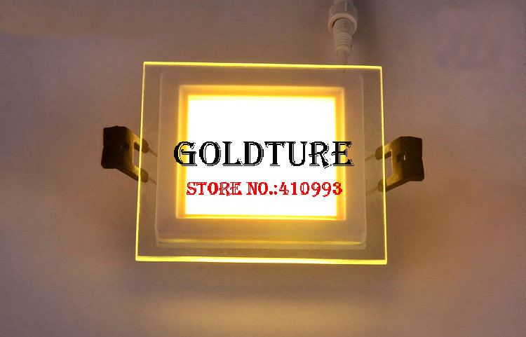 Embedded panel light 6W 9W 12W 18W ceiling light smd glass down light warm white cold white free shipping
