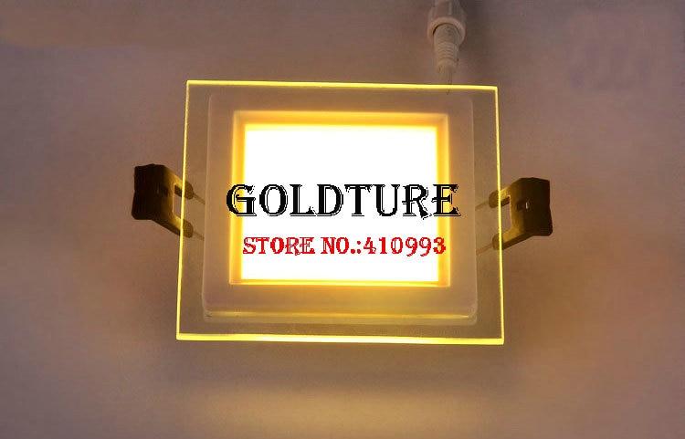 Intégré panneau lumineux 6 w 9 w 12 w 18 w plafonnier smd verre à la lumière blanc chaud froid blanc livraison gratuite