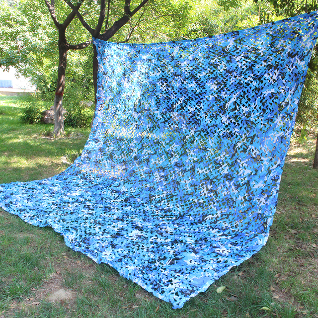 Ocean Blue Camouflage Net Amy Netting Hunting Net Military Paintball Concealment Car Covers Tent Shade Camping Sun Shelter