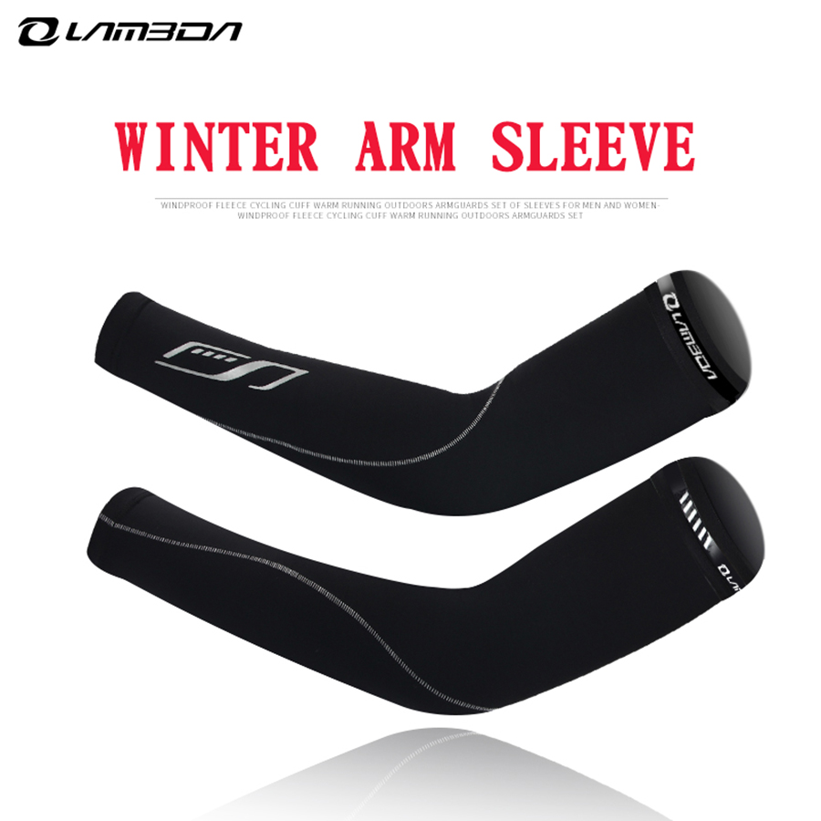ARSUXEO Unisex Cycling Arm Warmers Outdoor Sports Bicycle Riding Thermal Sleeves