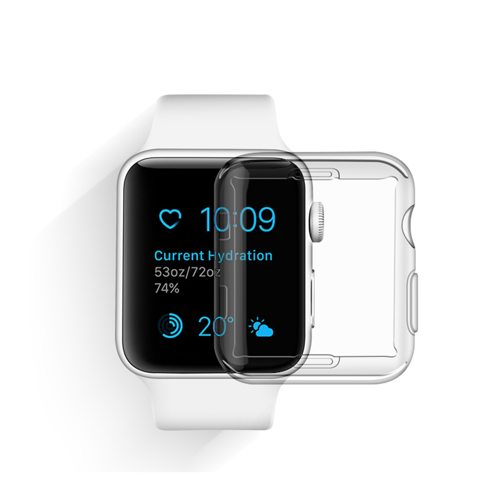 Silicone Clear TPU Case For Apple Watch 4 44mm 40mm 42mm