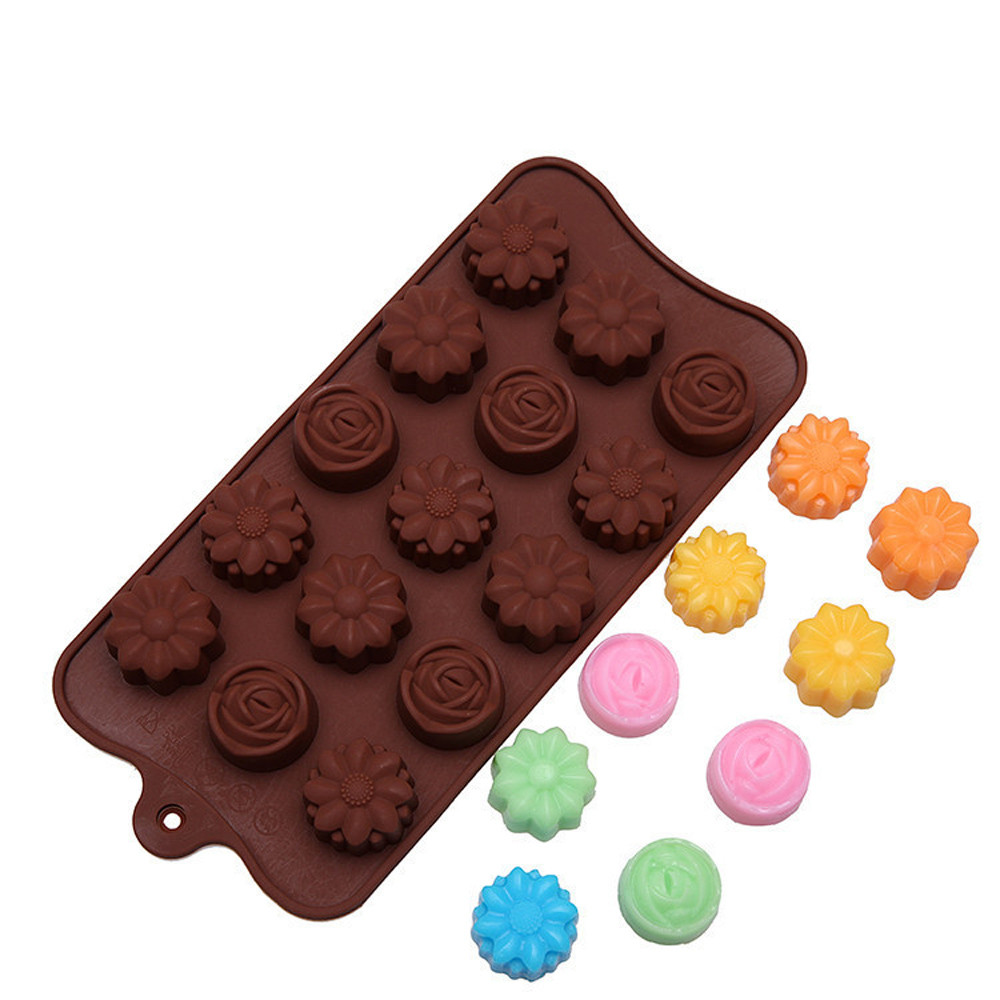 Image 3 - Cavity Silicone Flower Rose Chocolate Cake Soap Mold Baking Ice Tray Mould Forma De Silicone Fondant Coffee Chocolate Mold-in Cake Molds from Home & Garden