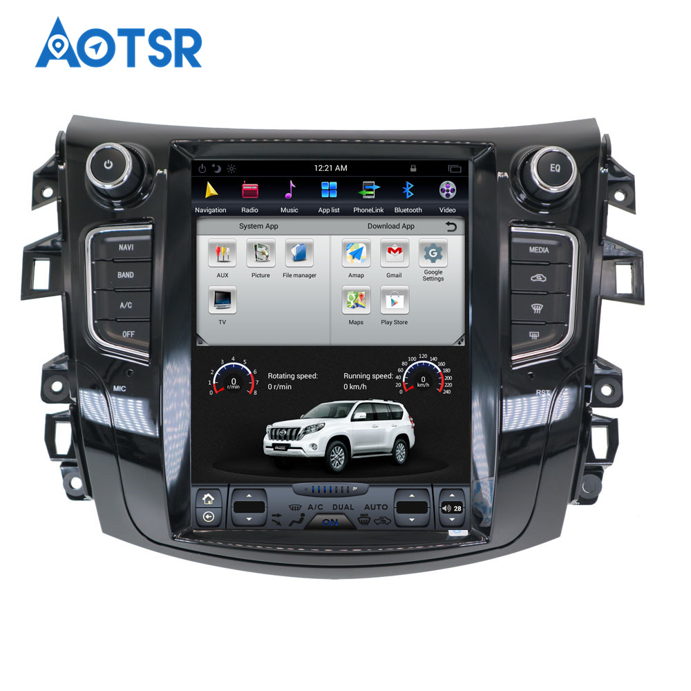 Best Android Tesla style Car GPS Navigation no DVD Player For NISSAN NP300 Navara 2014+ multimedia tape radio recorder head unit FM 1