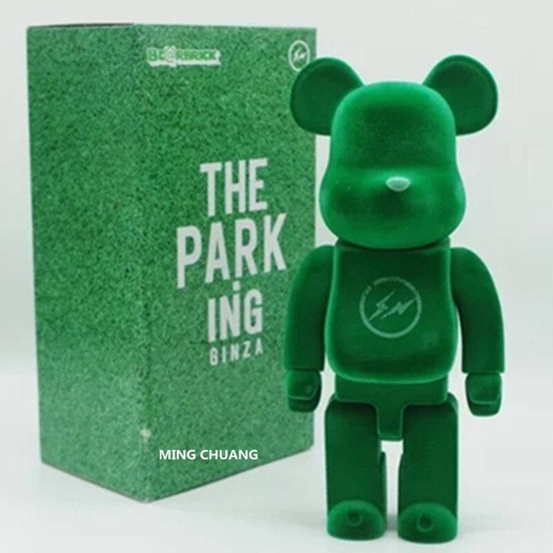 11 pulgadas Be @ rbrick 400% Bearbrick flocado Gloomy BB PVC figura de acción juguete modelo coleccionable D212