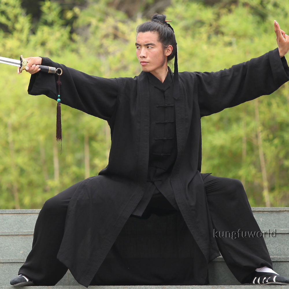 3 Pieces Tai chi Uniform Kung fu Jacket and Pants with Long Vest Martial arts Wing Chun Suit wing chun kuen