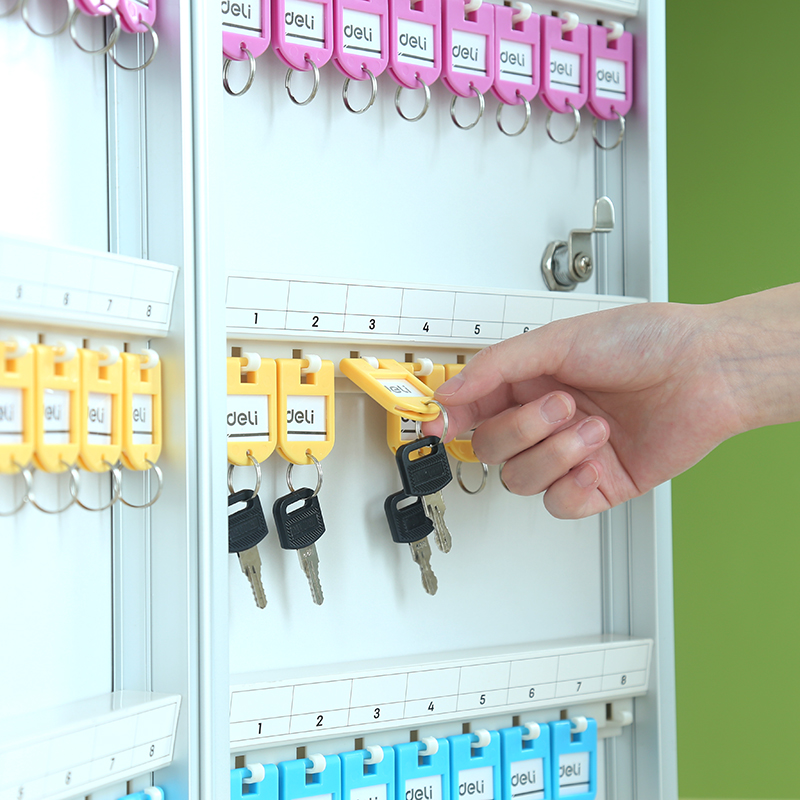 Deli 50801 Metal Key Management Box 48 Keys Aluminium Alloy Management Storage Box Wall Mounting Type Key Box