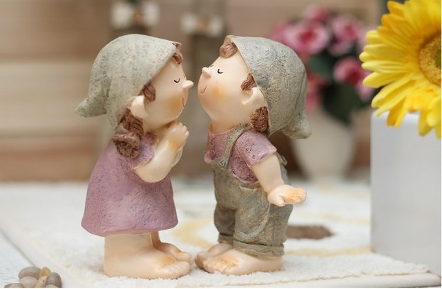 Free Shipping Parent resin doll fashion crafts decoration doll wedding gift