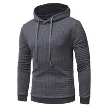2019 Plaid Hoodies Men Long Sleeve Solid Color Hooded Sweatshirt Male Hoodie Casual Sportswear Free Shipping цена