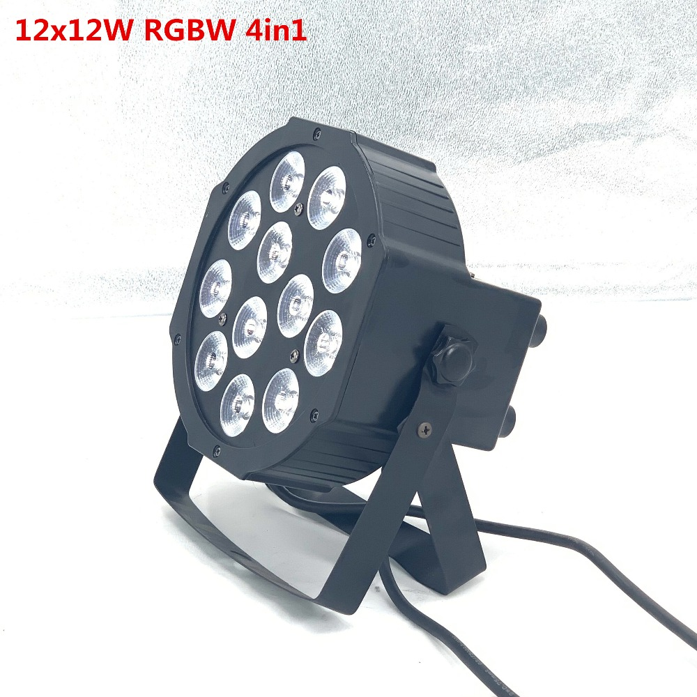 Led Par RGBW 4in1 12x12W Led Par DMX Stage Lights Business Led Flat Par Light With Professional For Party KTV Disco DJ