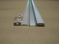 Free Shiping 25pcs 25m A Lot 1m Piece Anodized Diffuse Clear Cover Slim Aluminum Profile Led