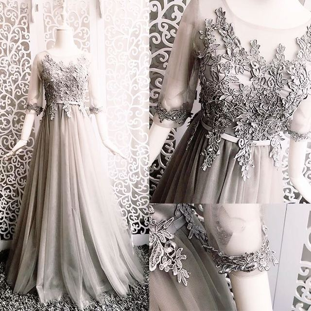 937ceff12f Aliexpress.com : Buy 2017 new Bridesmaid Dresses plus size stock cheap sexy  romantic sister simple elegant fashion sweetheart grey silver long from ...