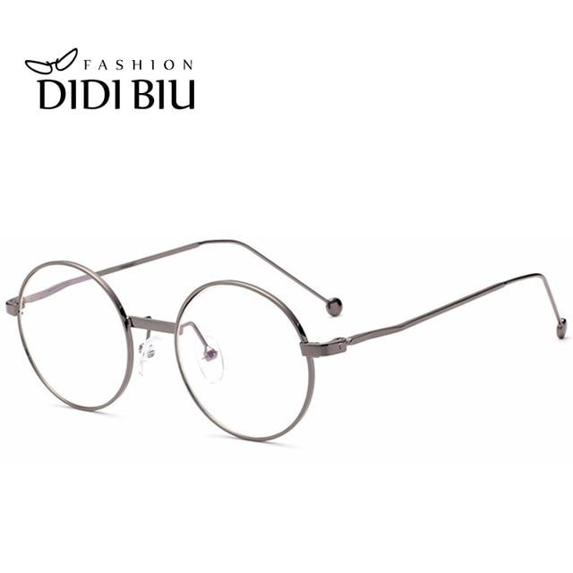 DIDI Anti-Radiation Small Round Clear Eyeglasses Women Men Metal Thin  Optics Anti-Fatigue Prescription Frames Circle Lens W592 80bed8a04fc0