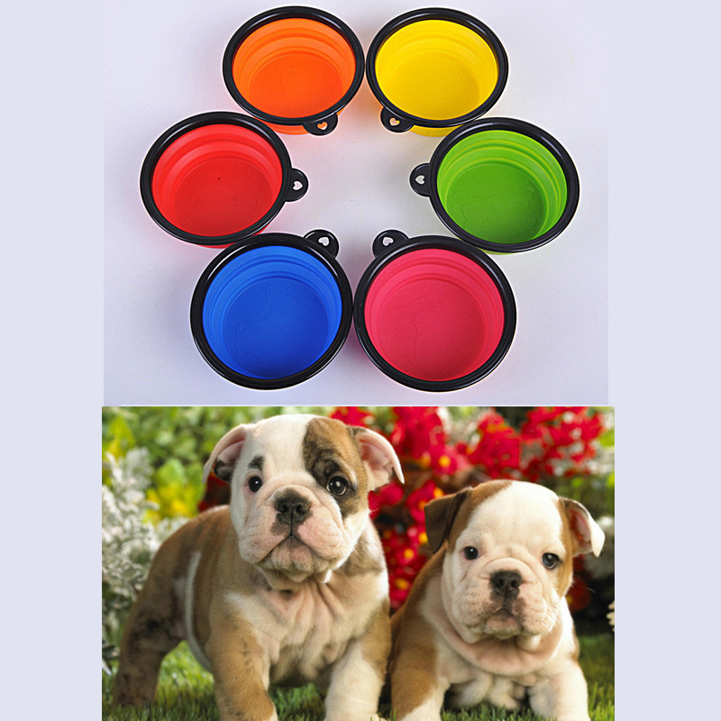 Tazones para perros Productos para mascotas de silicona Tazón para mascotas pleg