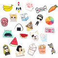 1 PC Lovely Cartoon Icons on The Pin Kawaii Icon Badge Icons on The Backpack Badges for Clothing Acrylic Badges