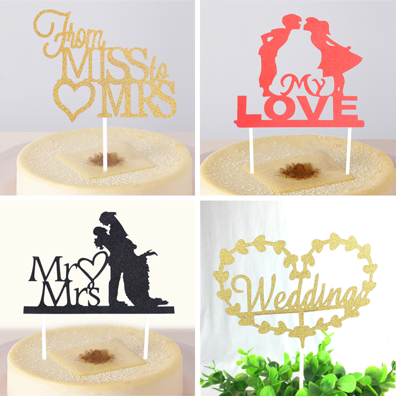 Wedding theme cupcake cake topper cake flags baking for Bakery decoration