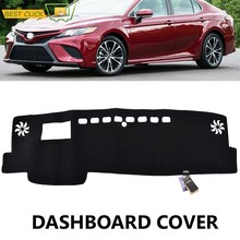 Xukey Dashboard Cover Dash Mat Dashmat For Toyota Camry 2018 2019 LE XLE Daihatsu Altis Dash Board Cover Pad Sun Shade Carpe(China)