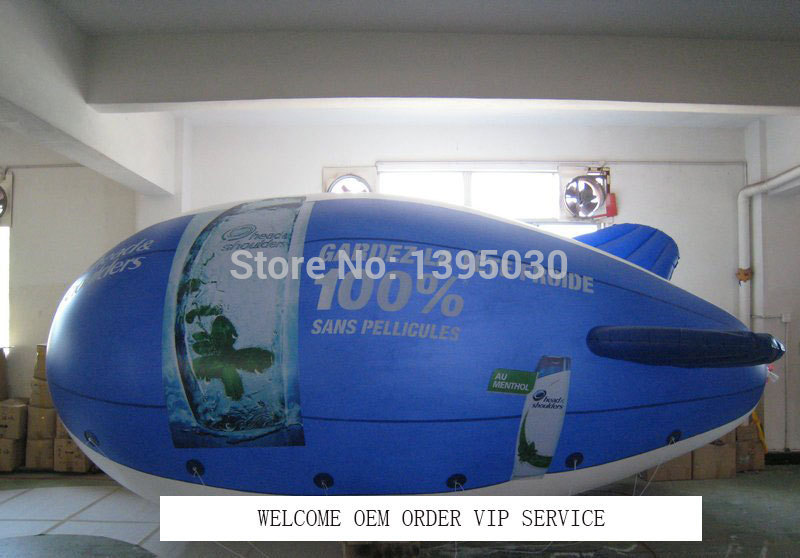 Floating PVC Helium Blimp Inflatable Advertising Airship Zeppeline with Your BIG LOGO as you want