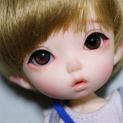 1//8 BJD Doll Cute Baby Girl Ming Free eyes and Face Up Resin Dolls