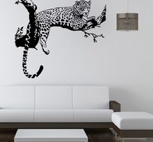 Hot Sale Large Leopard Vinyl Art Wall Mural Home Decor Animal Decoration For Living Room Stickerl Y-335