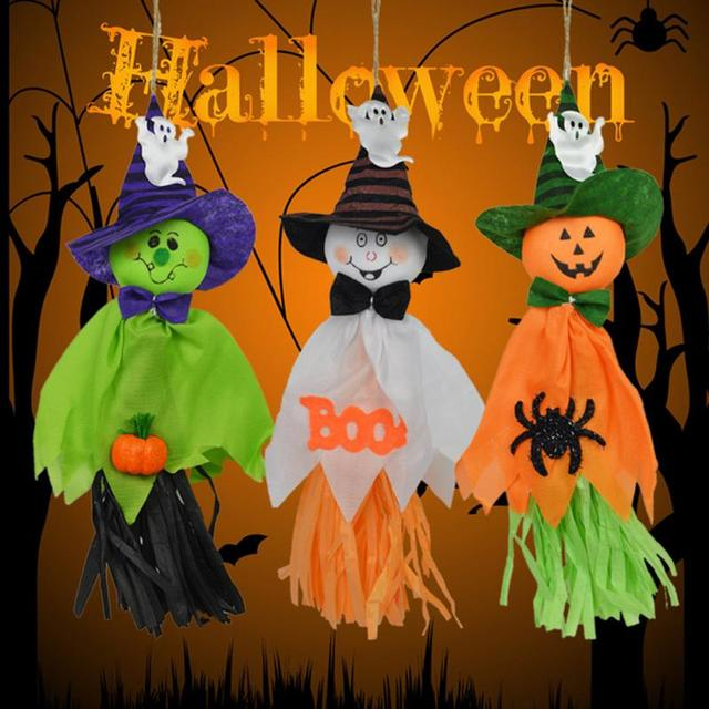 Cute Ghost Hanging Hangtag Halloween Decoration Kids Funny Joking Toys Props Halloween Party Supplies