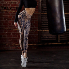 Push Up Leggings Women Fashion Polyester Ankle-Length Pants Snake Skin Printing Keep Slim Female Legging Fitness