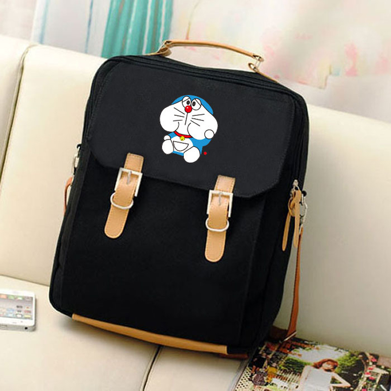 New Canvas Preppy Style Printing Backpack Anime Kawaii Doraemon Mochila Women Backpacks Students School Bags for Teenagers Girls canvas printing backpack women school bags for teenagers girls backpacks ladies bolsas mochila feminina black color