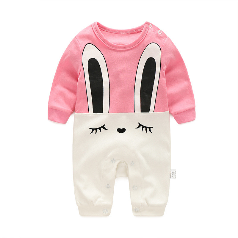2017 new baby romper boy girl clothes one-piece jumpsuit brand costume toddler suit infant clothing  bebes tiger rabbit mickey baby rompers newborn infant clothing 2016 brand baby boy girl long sleeve one piece romper bamboo leaves toddler jumpsuit