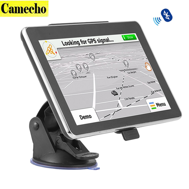 """Camecho 7 """"Touch Screen Portable Veículo Car Navegação GPS Navigator SAT NAV 4 GB 8 GB Android 4.4.2 Bluetooth Handsfree"""