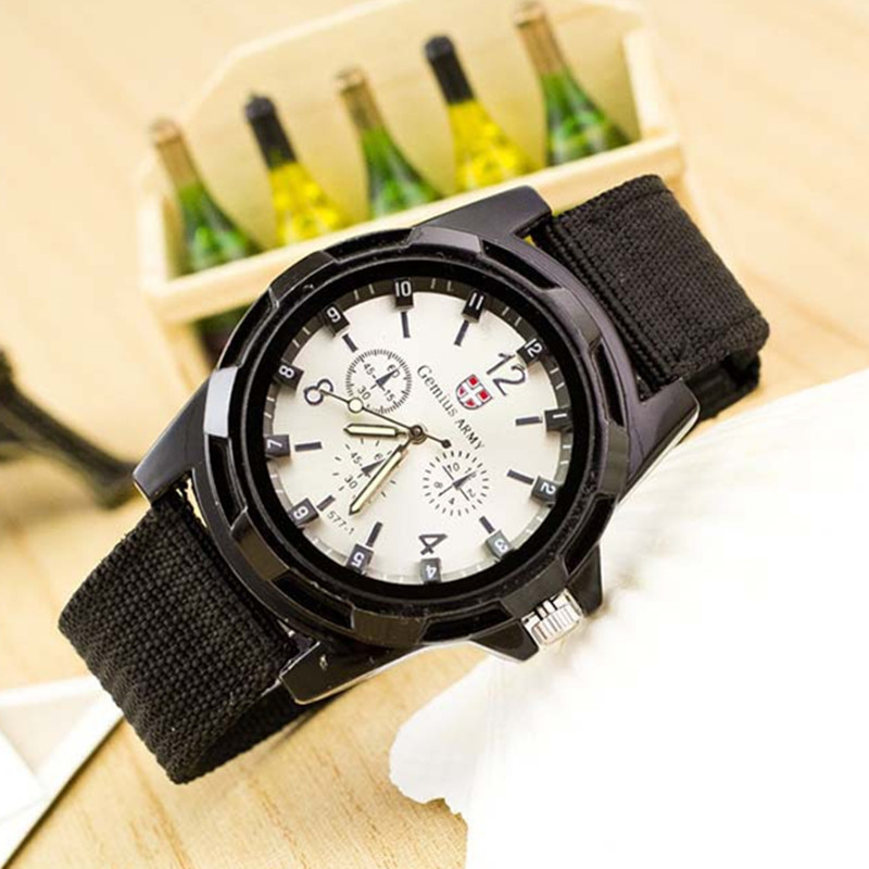 Zegarki meskie Marca Sport Relojes Hombres Casual Ejército de Nylon - Relojes para hombres