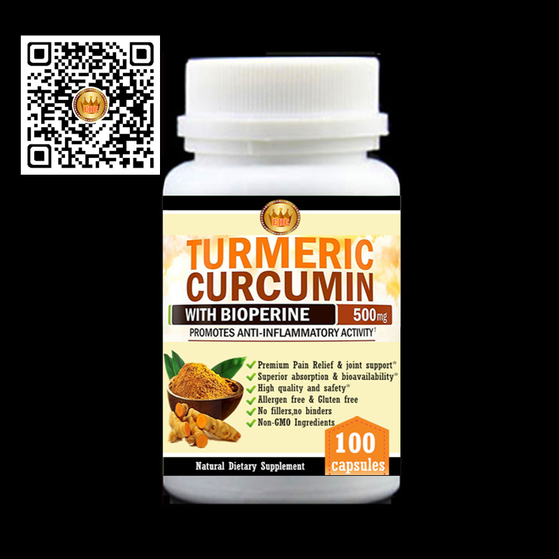 Turmeric Root Extract Curcumin with Bioperine(Better absorption),Premium Pain Relief & Joint Support, black pepper,100pcs/bottle turmeric curcumin with bioperine 1500mg premium pain relief