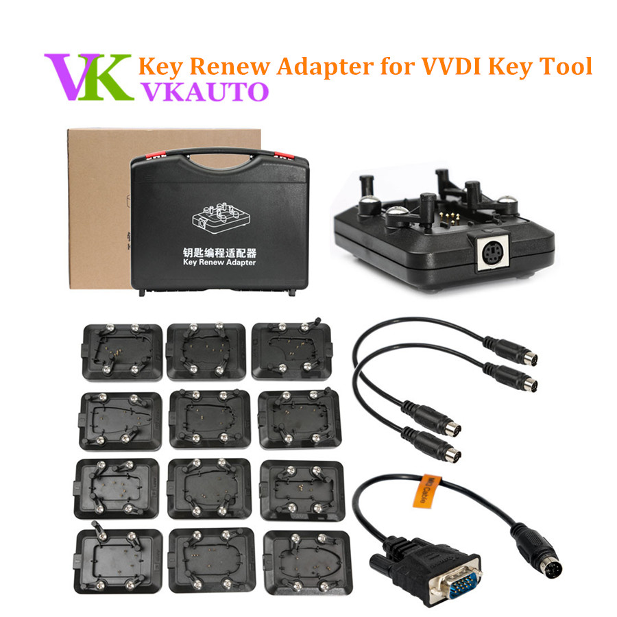 Original Xhorse VVDI Key Tool Key Renew Adapter Full Set 12pcs Free Shipping