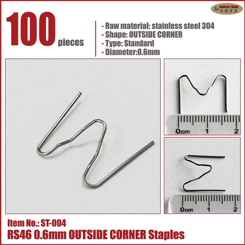 0 6mm 0 8mm staples wave SEMI WAVE flat corner with ironing tools nail cutter car bumper welding plastic repair hot stapler in Welding Wires from Tools