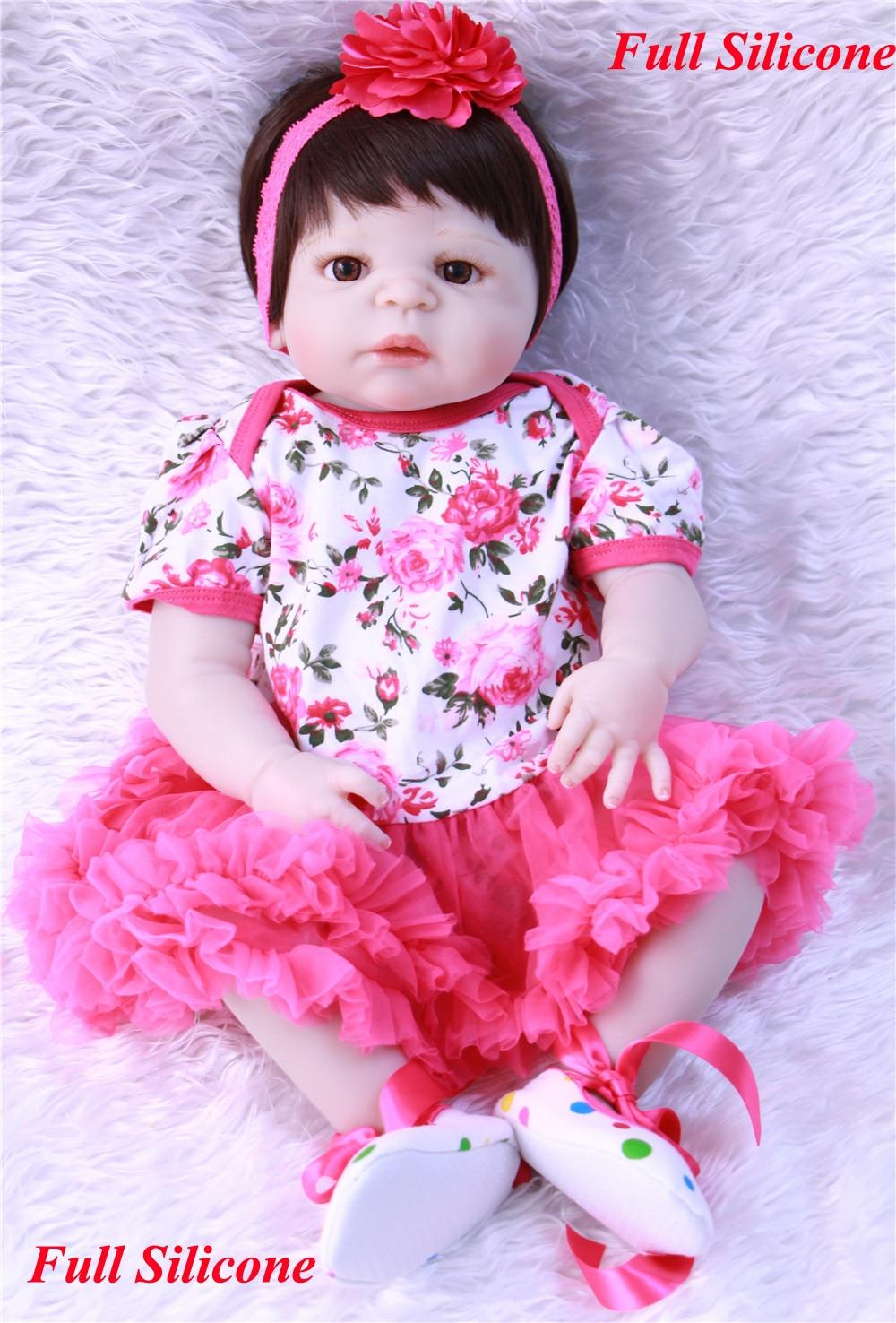 Realistic reborn baby NPK girl dolls 22 full body silicone reborn baby dolls for children gift