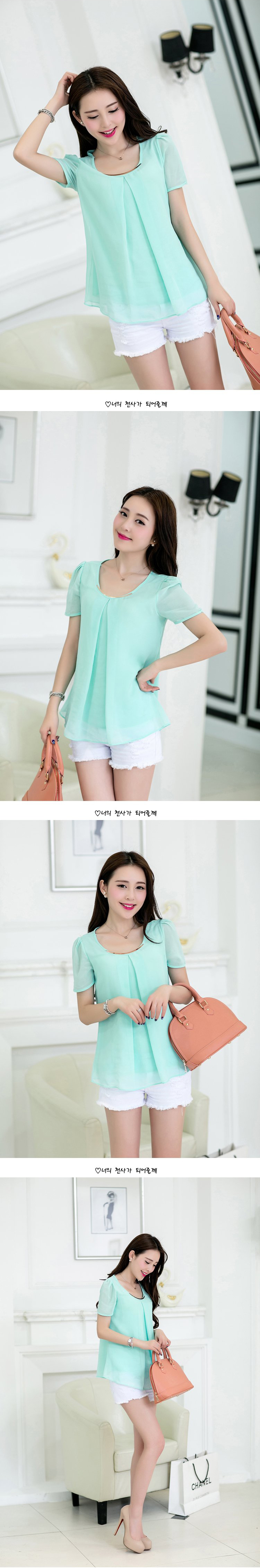 HTB14E79PVXXXXc5apXXq6xXFXXXw - Women's Chiffon Blouse Shirt 2017 Short Sleeve Plus Size 3XL